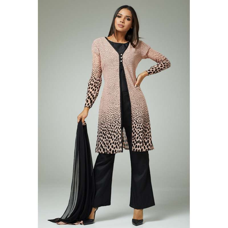 7683529b4c PINK AND BLACK JACKET STYLE INDIAN DESIGNER PARTY WEAR SUIT