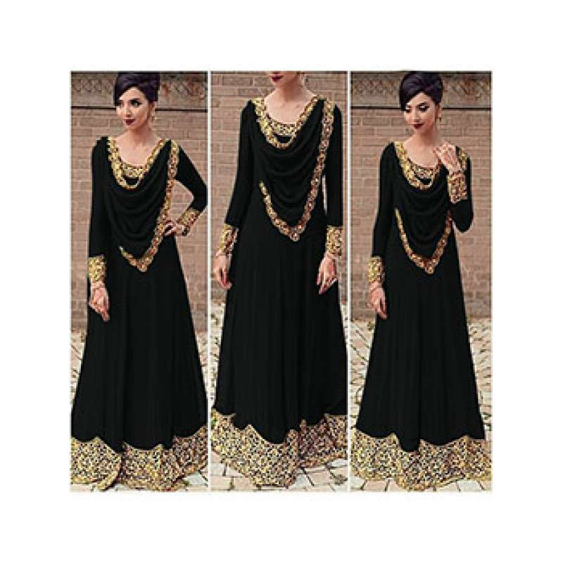 d3a1476a20 HEAVY GOLD EMBROIDERY LONG ANARKALI DRESS (FOUR COLOURS AVAILABLE)
