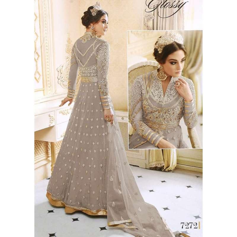 Brown Indian Maxi Evening Wedding Dress