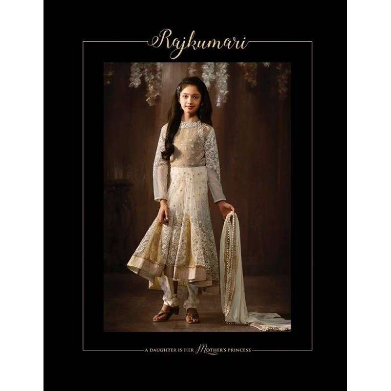 11f9c8a1d9 IVORY GIRLS PARTY WEAR ANARKALI SUIT ASIAN COUTURE