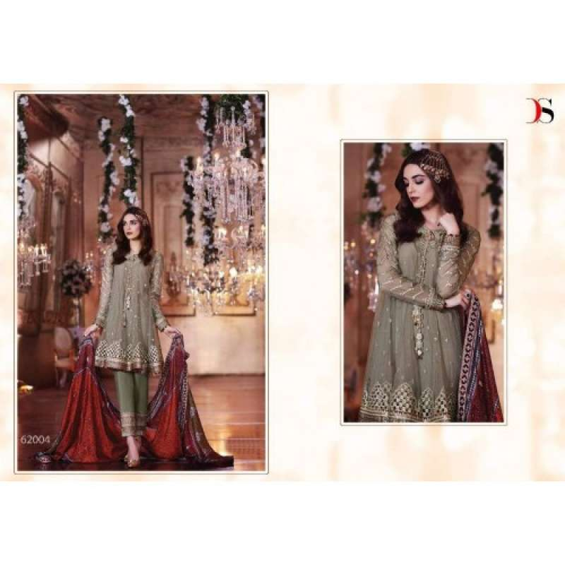 afaf764df5 BD-1002 GREEN MARIA.B. MBROIDERED PARTY WEAR DRESS