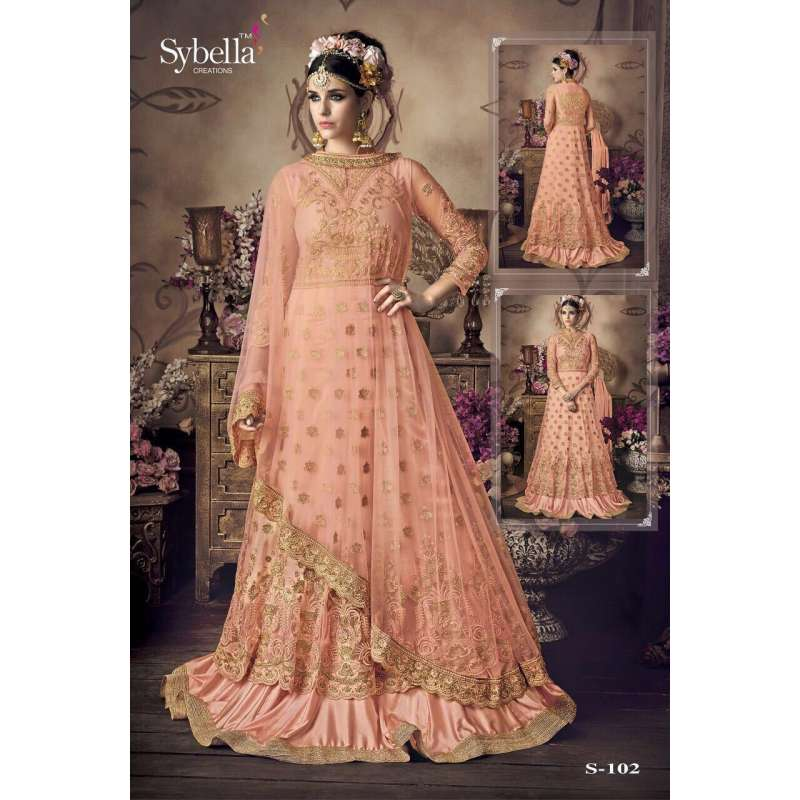 504beed82af PEACH INDIAN MODEST MAXI GOWN ABAYA PARTY DRESS