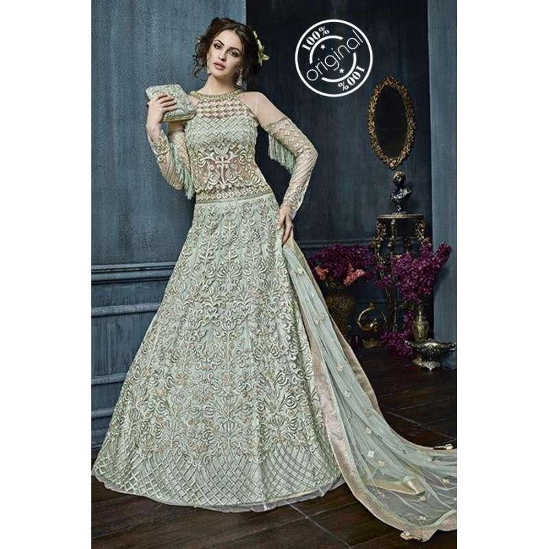 617618d849ec09 22003-A AQUA LIGHT TURQUOISE ZOYA CELEBRITY HEAVY EMBROIDERED INDIAN BRIDAL  WEDDING LEHENGA