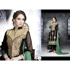 6206 Black With Green LEO Designer Party Wear Suit