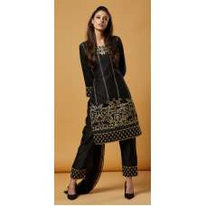Black Designer Embroidered Pakistani Style Suit