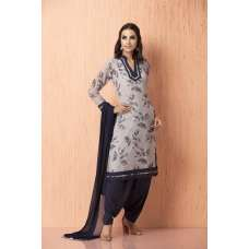 AC-93 GREY COLOR FLORAL PRINTED SALWAR KAMEEZ (READY MADE)