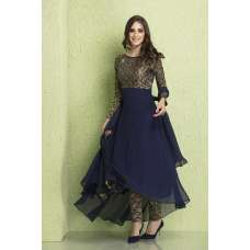 AC-122 BLUE SKATER STYLE READY MADE WEDDING WEAR SUIT
