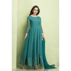 AC-130 TURQUOISE BLUE GEORGETTE MAXI STYLE READY MADE SUIT