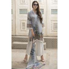 GREY PRINTED SUMMER WEAR SALWAR KAMEEZ