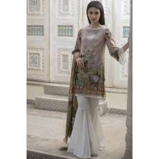 DUSTY BROWN PRINTED READY MADE PAKISTANI SUIT