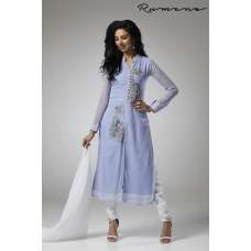 LILAC SUBTLE JACKET STYLE READY MADE CHURIDAAR SUIT