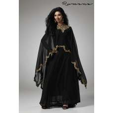 BLACK CAPE STYLE FLARED READY MADE DRESS