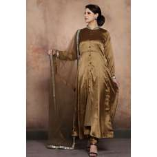 ANTIQUE GOLD SLIT STYLE PAKISTANI WEDDING STYLE READY MADE SALWAR SUIT