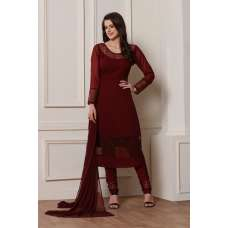RED COLOUR GEORGETTE DESIGNER READY MADE SALWAR SUIT