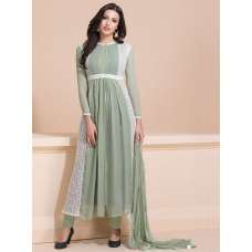 PISTA FEMININE FROCK STYLE LAYERED READY MADE SUIT