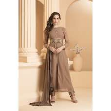AC-155 COFFEE SLIT STYLE PARTY WEAR READY MADE INDIAN SUIT