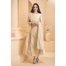 AC-170 OFF WHITE BAGALPURI SILK EMBROIDERED READY MADE WEDDING WEAR OUTFIT