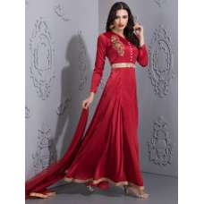 STUNNING RED WINE  READYMADE OCCASIONAL GOWN SUIT