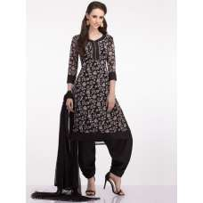BLACK GRACEFUL AND COMFORTABLE CASUAL WEAR READY MADE SUIT