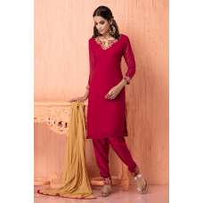 AC-102 MAGENTA GEORGETTE INDIAN STYLE READY MADE SALWAR KAMEEZ