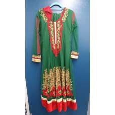 Green Desi Indian Wedding Style Anarkali Gown
