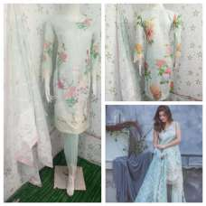 SKY BLUE SUMMER LAWN READY MADE PAKISTANI SALWAR SUIT