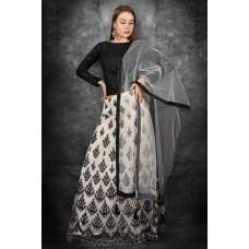 Black & White Indian Designer Contrast Lehenga