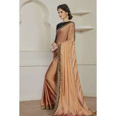 COPPER SIMPLY ELEGANT PARTY WEAR READY MADE TRADITIONAL INDIAN SAREE