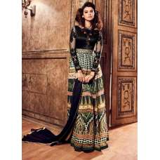 BLACK AND GREEN MAISHA LAVISH 3 PARTY WEAR SUIT