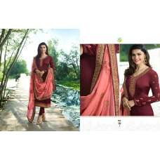 ZAC-166 FIRED BRICK MAROON INDIAN PARTY READYMADE SUIT