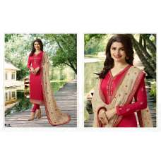 RED BEIGE HEAVY CHURIDAAR PAKISTANI SUIT