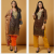 GOLD ORANGE EID DESIGNER READYMADE PAKISTANI SUITS