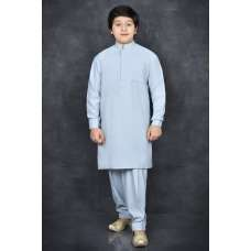 FADED DENIM BLUE EASTERN BOYS FESTIVE SALWAR KAMEEZ