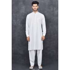 WHITE KURTA AND SHALWAR READY MADE MENSWEAR INDIAN SUIT