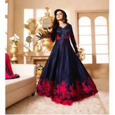 NAVY BLUE MAISHA MASKEEN SEEP WEDDING WEAR ANARKALI SUIT
