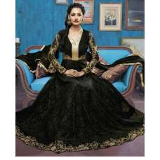 Bela Black Colour Anarkali Suit