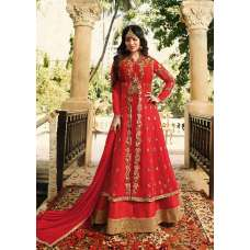 RED INDIAN PARTY AND WEDDING ANARKALI GOWN