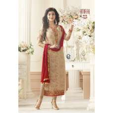 BEIGE AMIRAH INDIAN BOLLYWOOD STYLE CHURIDAAR SUIT