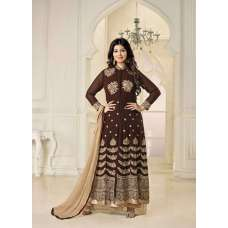 5002 BROWN MERINA BY AYESHA TAKIA AASHIRWAD DESIGNER ANARKALI SUIT