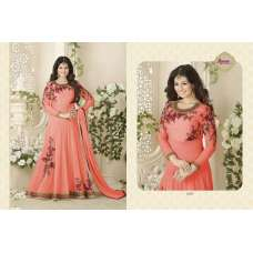 1005-C PEACH AVON DREAMS STARRING AYESHA TAKIA ANARKALI GOWN