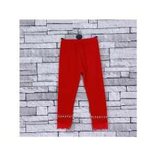 GIRLS RED DIAMANTE LACE LEGGINGS (2-14 YEARS)