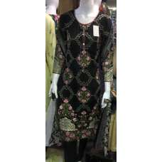 Stunning Black Maria b Inspired Embroidered Ready Made Suit