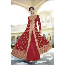 FL-7318 Red Nargis Fakhri Georgette Anarkali Dress