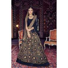 FL-7379 NAVY BLUE FLORAL GRACIA HEAVY EMBROIDERED LEHNGA