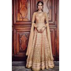 FL-7380 BEIGE FLORAL GRACIA HEAVY EMBROIDERED LEHNGA