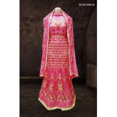 PINK BOLLYWOOD DESIGNER WEDDING AND BRIDAL ETHNIC LEHENGA  (FREE STITCHING)