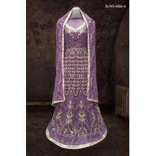 PURPLE BOLLYWOOD DESIGNER WEDDING AND BRIDAL ETHNIC LEHENGA  (FREE STITCHING)