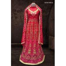 RED BOLLYWOOD DESIGNER WEDDING AND BRIDAL ETHNIC LEHENGA  (FREE STITCHING)