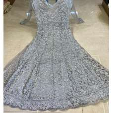 ASH GREY INDIAN BRIDAL & WEDDING GOWN