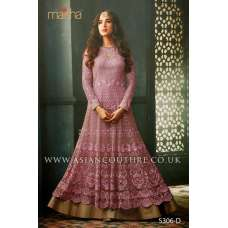 Hot Pink Indian Party Wear Asian Anarkali Wedding Bridal Dress